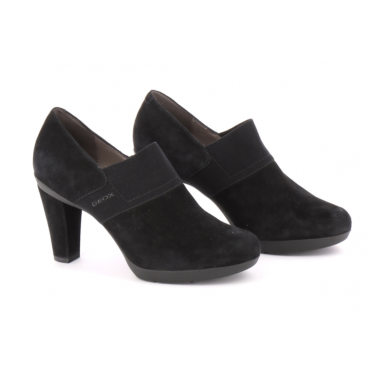 Non Signé / Unsigned \N Black Suede Boots for Women 38.5 EU