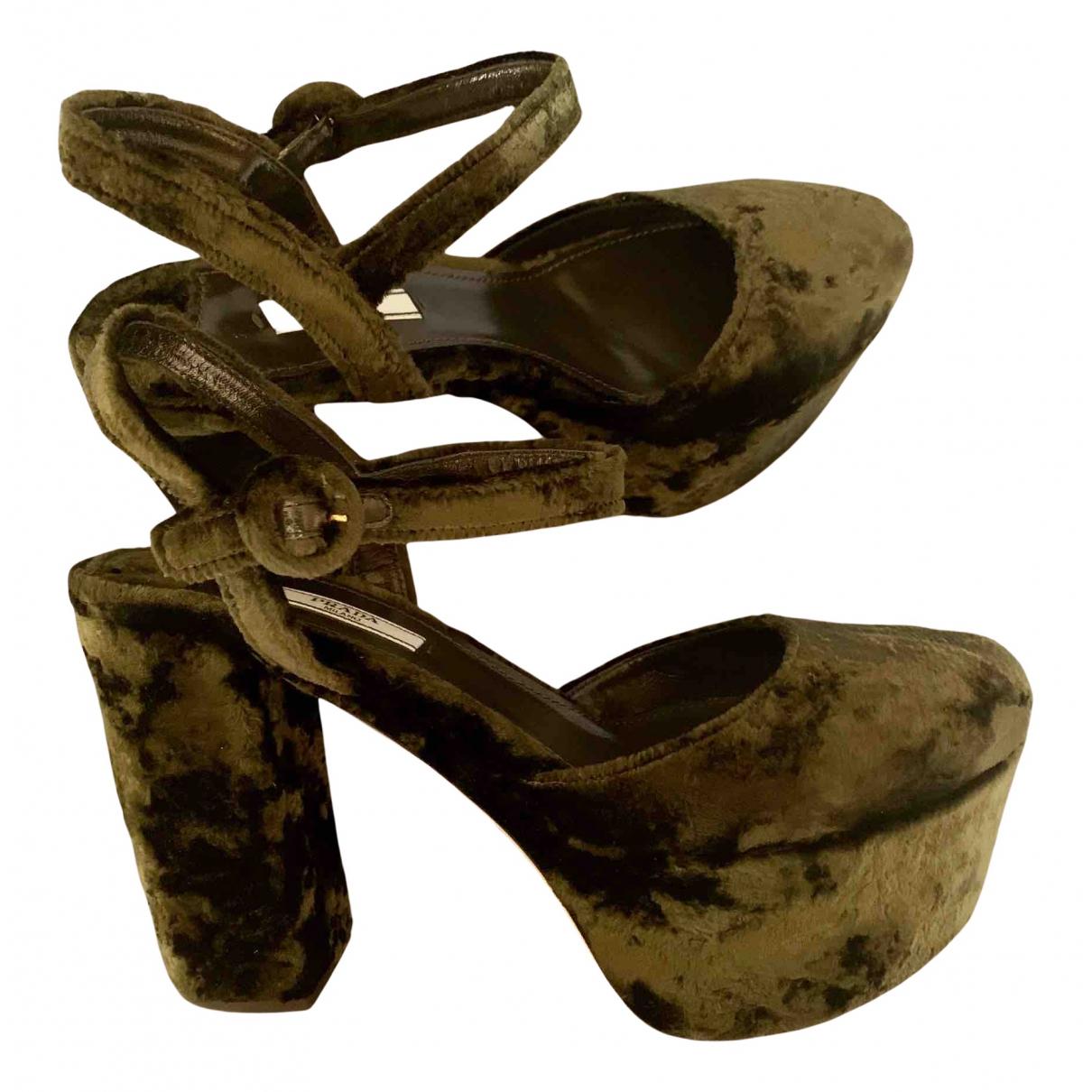Prada - Escarpins   pour femme en velours