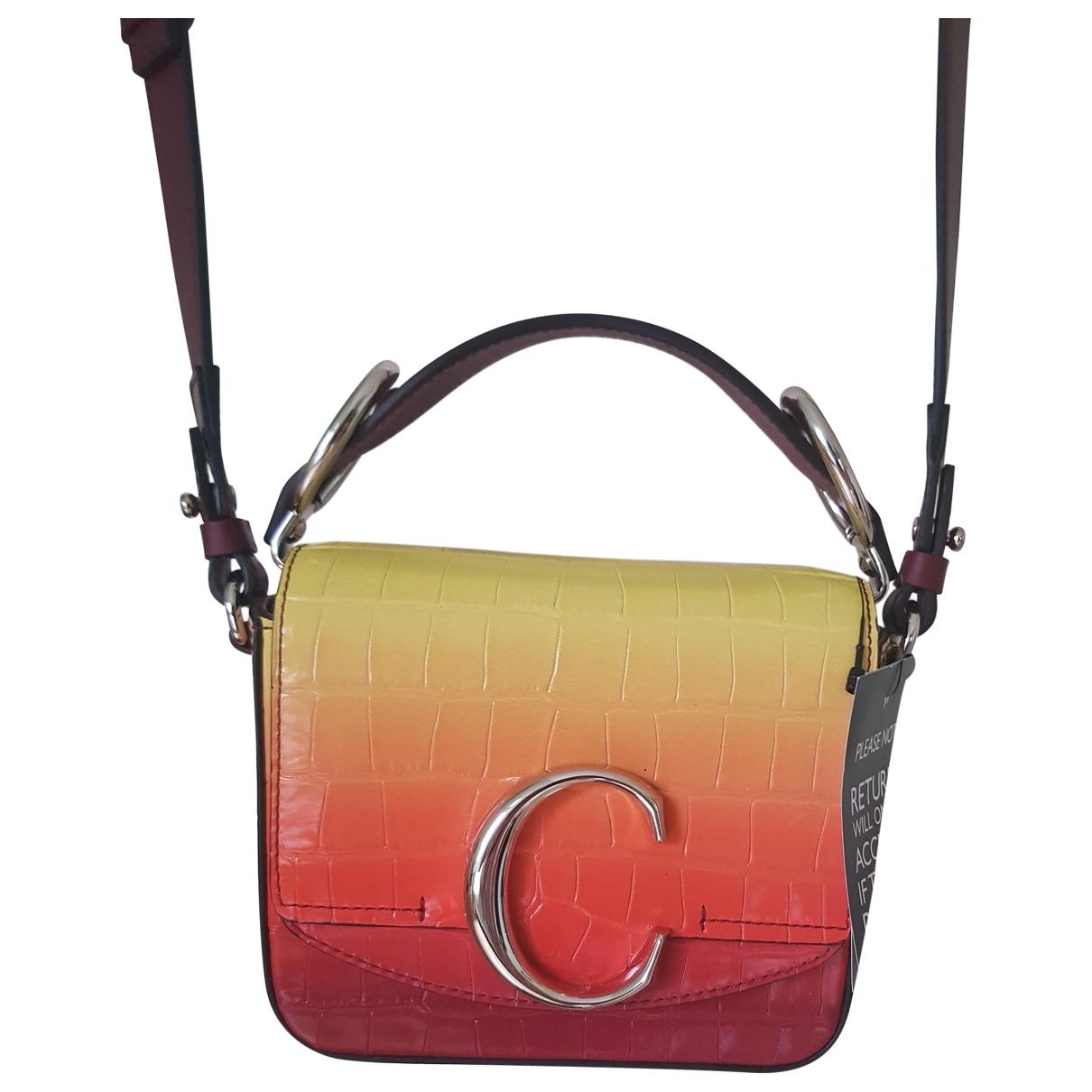Chloe - Sac a main C pour femme en cuir - multicolore