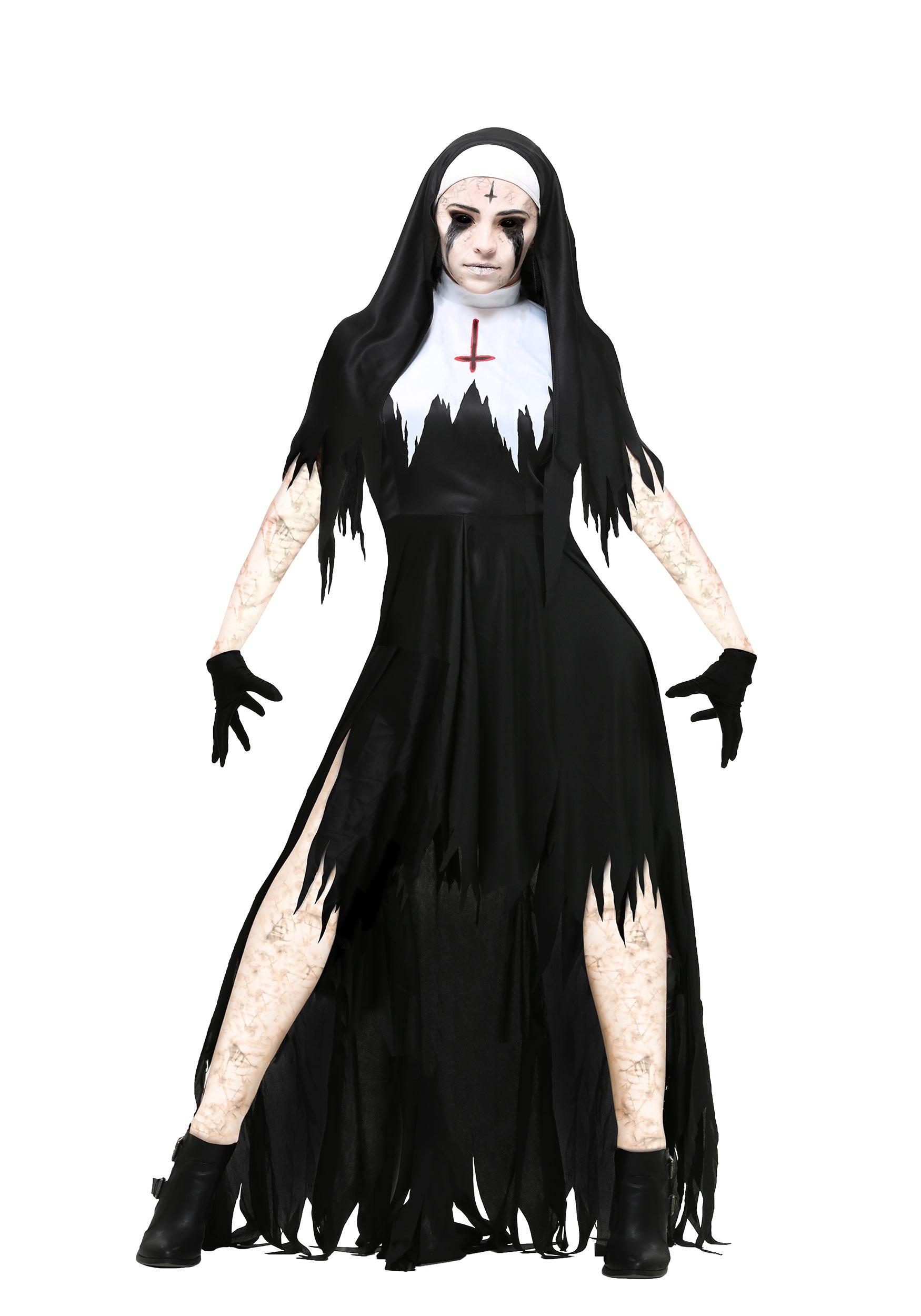 Dreadful Nun Womens Plus Size Costume