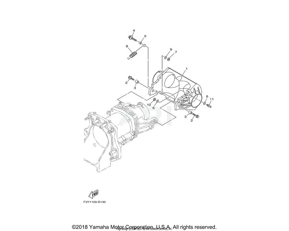 Yamaha OEM 6GA-R1314-00-00 GATE, REVERSE
