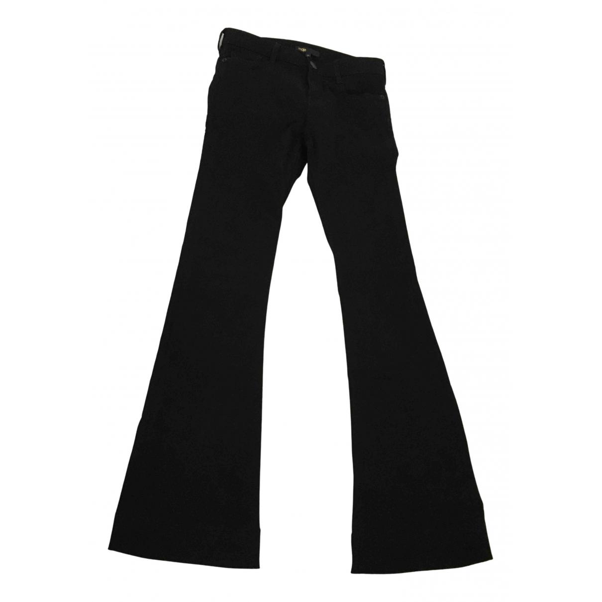 Maje N Black Cotton - elasthane Jeans for Women 34 FR