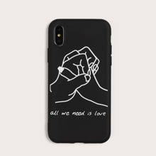 Clasped Fingers Pattern iPhone Case