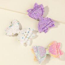 3 piezas horquilla de niñitas con lazo