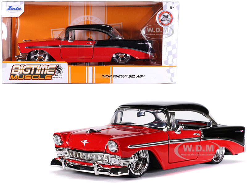 1956 Chevrolet Bel Air Red and Black