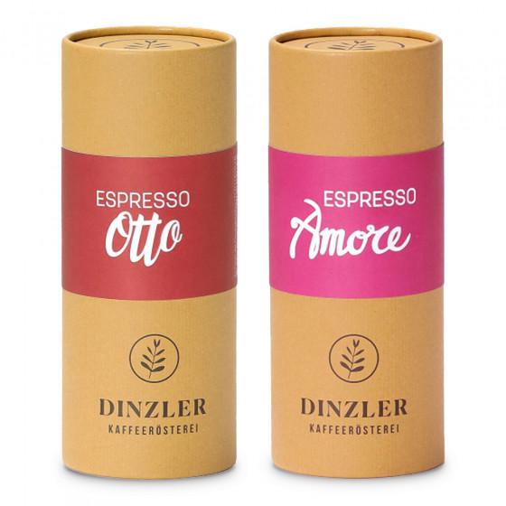 """Kaffeebohnen-Set Dinzler Kaffeerosterei """"Espresso Amore & Espresso Otto"""", 500 g"""