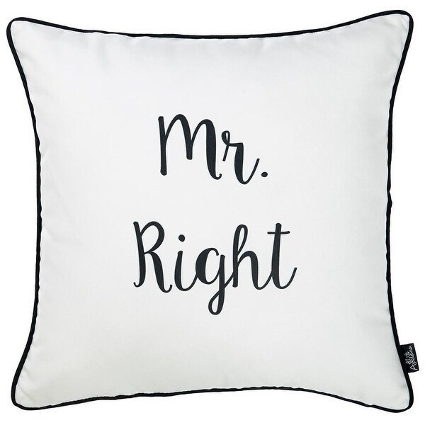 Porch & Den Boston Mr. Right Throw Pillow Cover (Removable Cover - Pillow Covers - Zipper Closure)