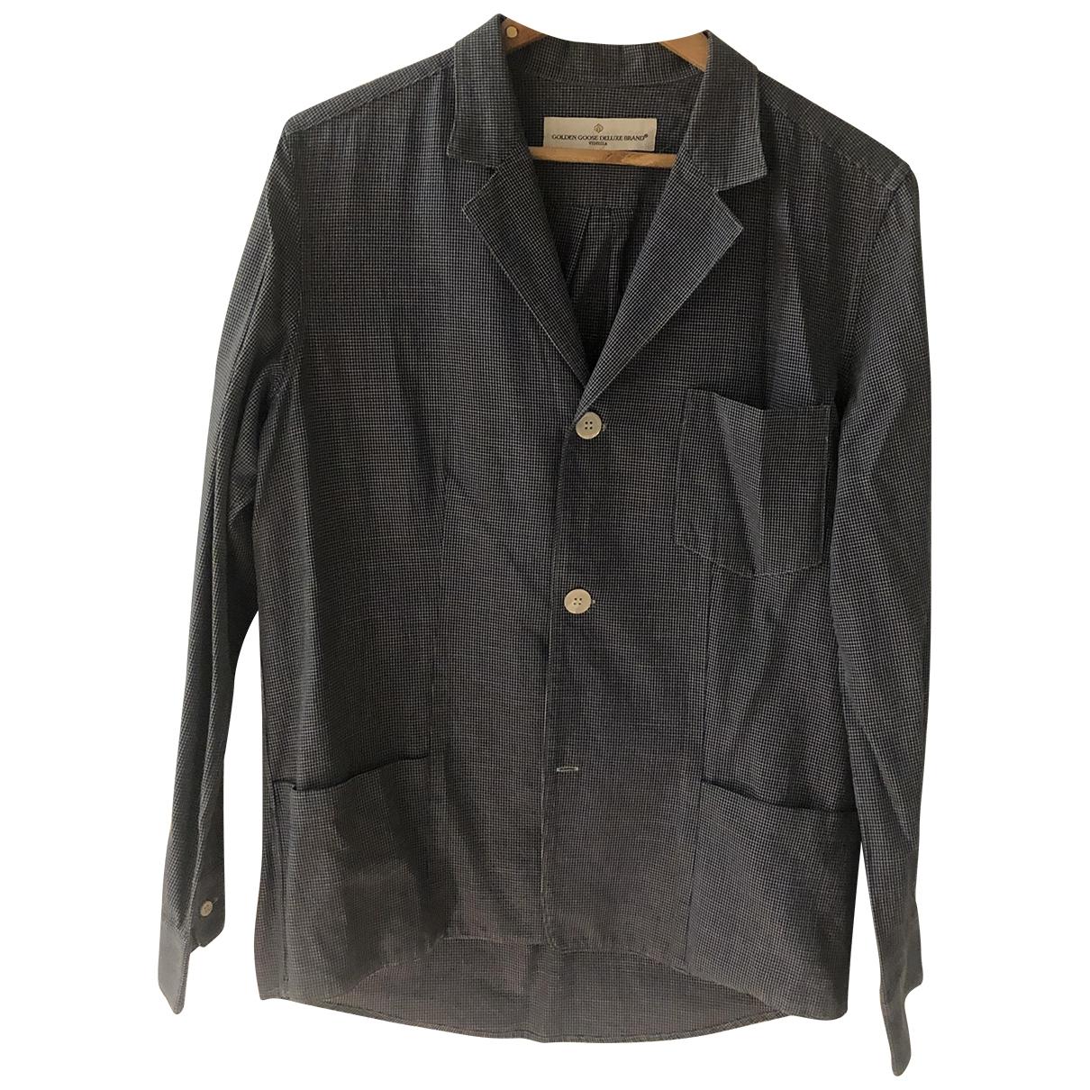 Golden Goose \N Blue Cotton Shirts for Men M International