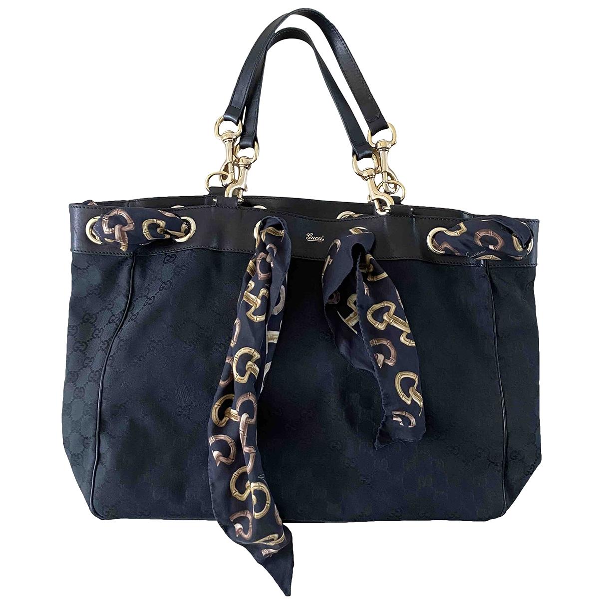 Gucci Positano Black Cloth handbag for Women \N