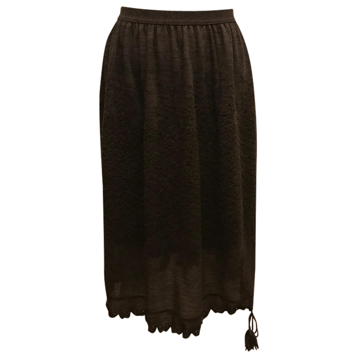 Jean Paul Gaultier N Brown Wool skirt for Women 36 FR