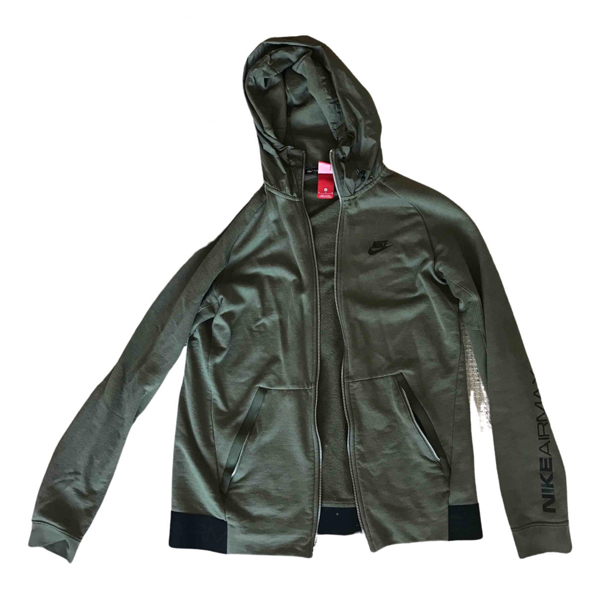 Nike \N Pullover.Westen.Sweatshirts  in  Gruen Baumwolle