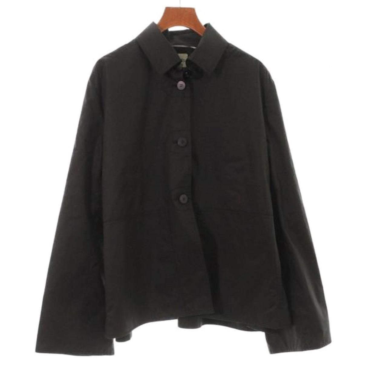 Hermes - Veste   pour femme en coton - noir