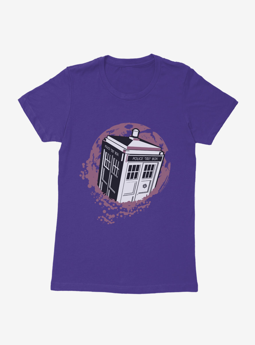 Doctor Who TARDIS Interference Womens T-Shirt