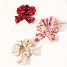 3 Stuecke Maedchen Haargummis mit Knoten Design
