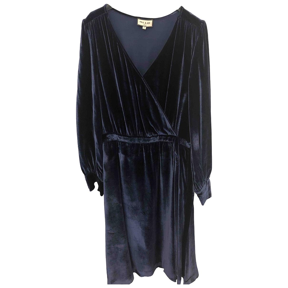 Paul & Joe \N Blue Velvet dress for Women 40 FR