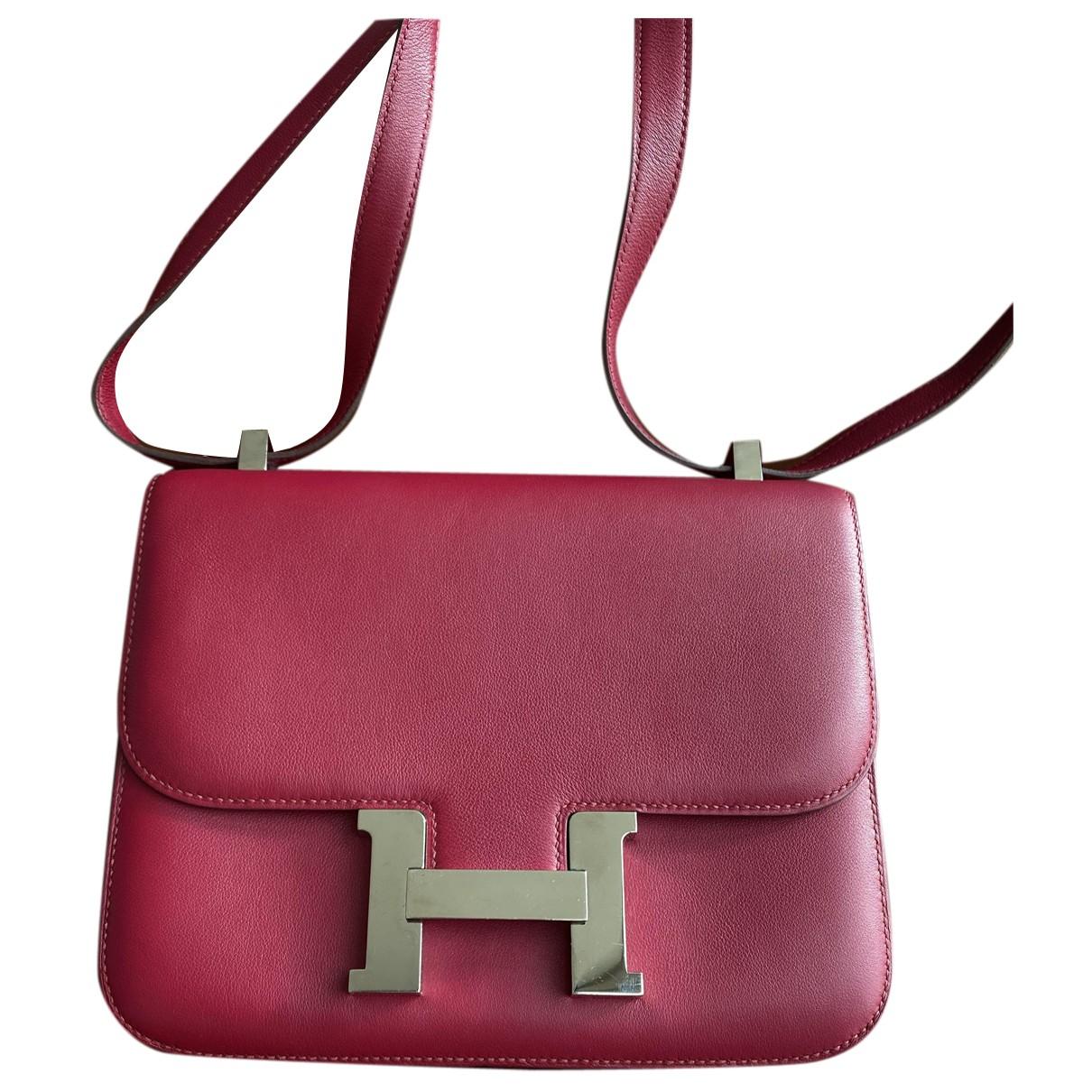 Hermès Constance Pink Leather handbag for Women N