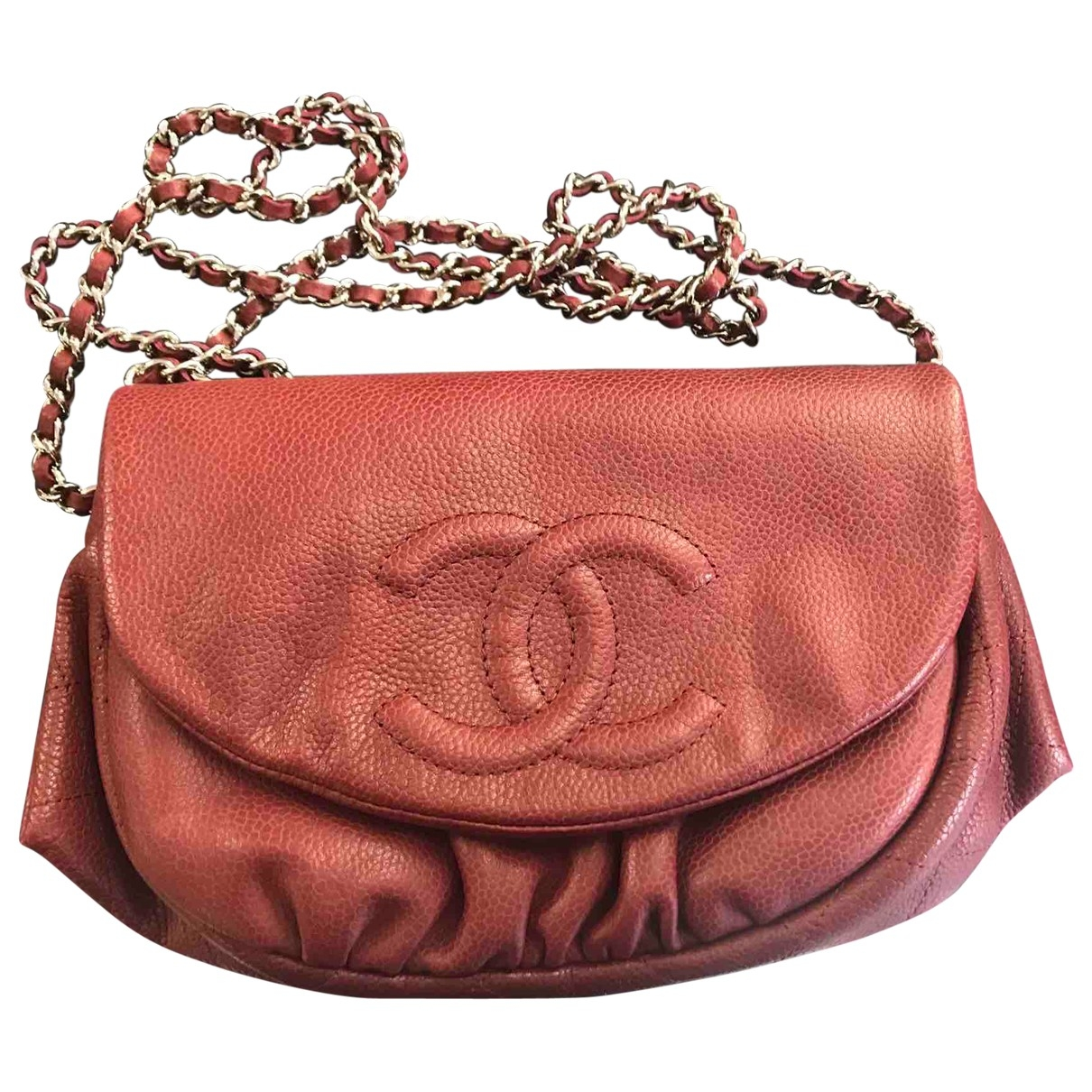 Chanel \N Handtasche in  Bordeauxrot Leder
