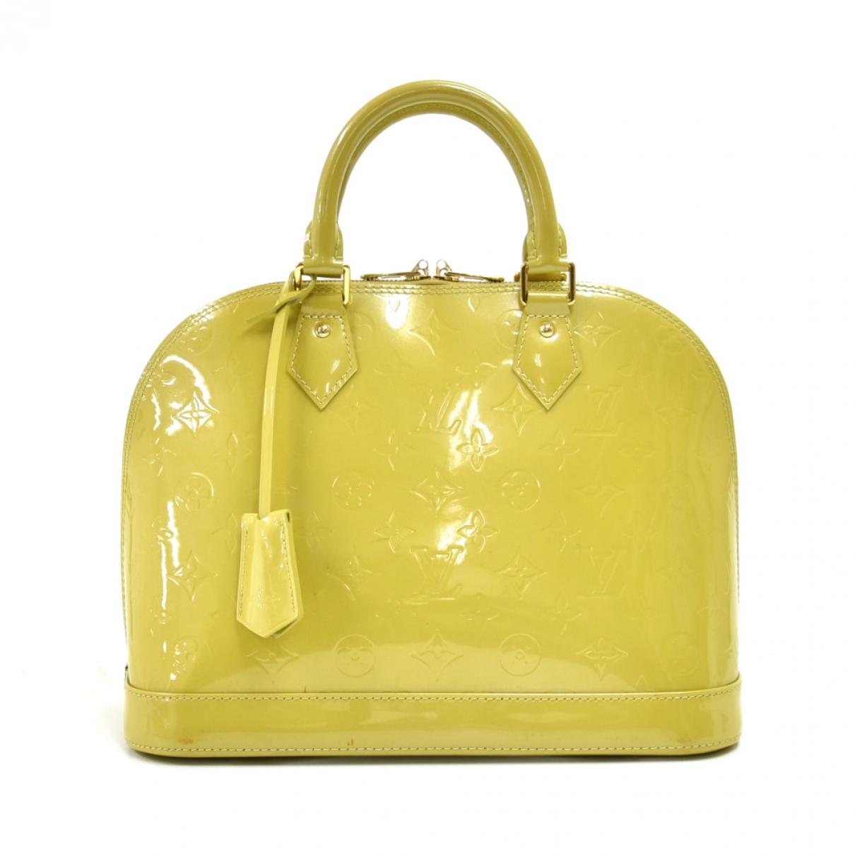 Louis Vuitton Alma Handtasche in  Gruen Lackleder