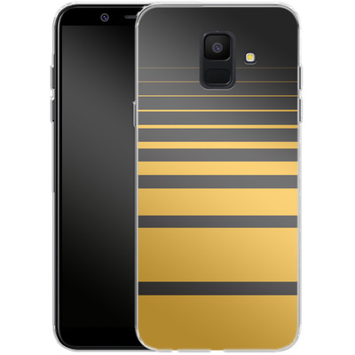Samsung Galaxy A6 Silikon Handyhuelle - Yellow Retro von SONY