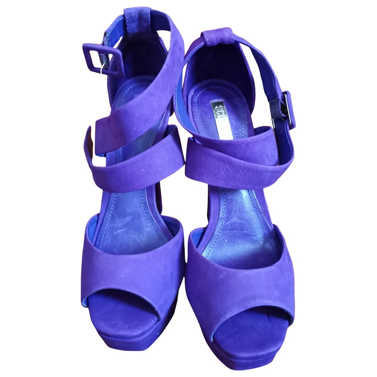 Schutz \N Purple Suede Heels for Women 36 EU