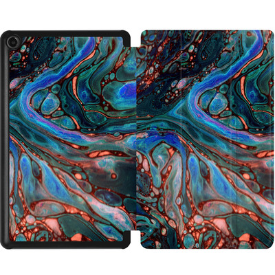 Amazon Fire 7 (2017) Tablet Smart Case - Marbled Darkness von Amy Sia