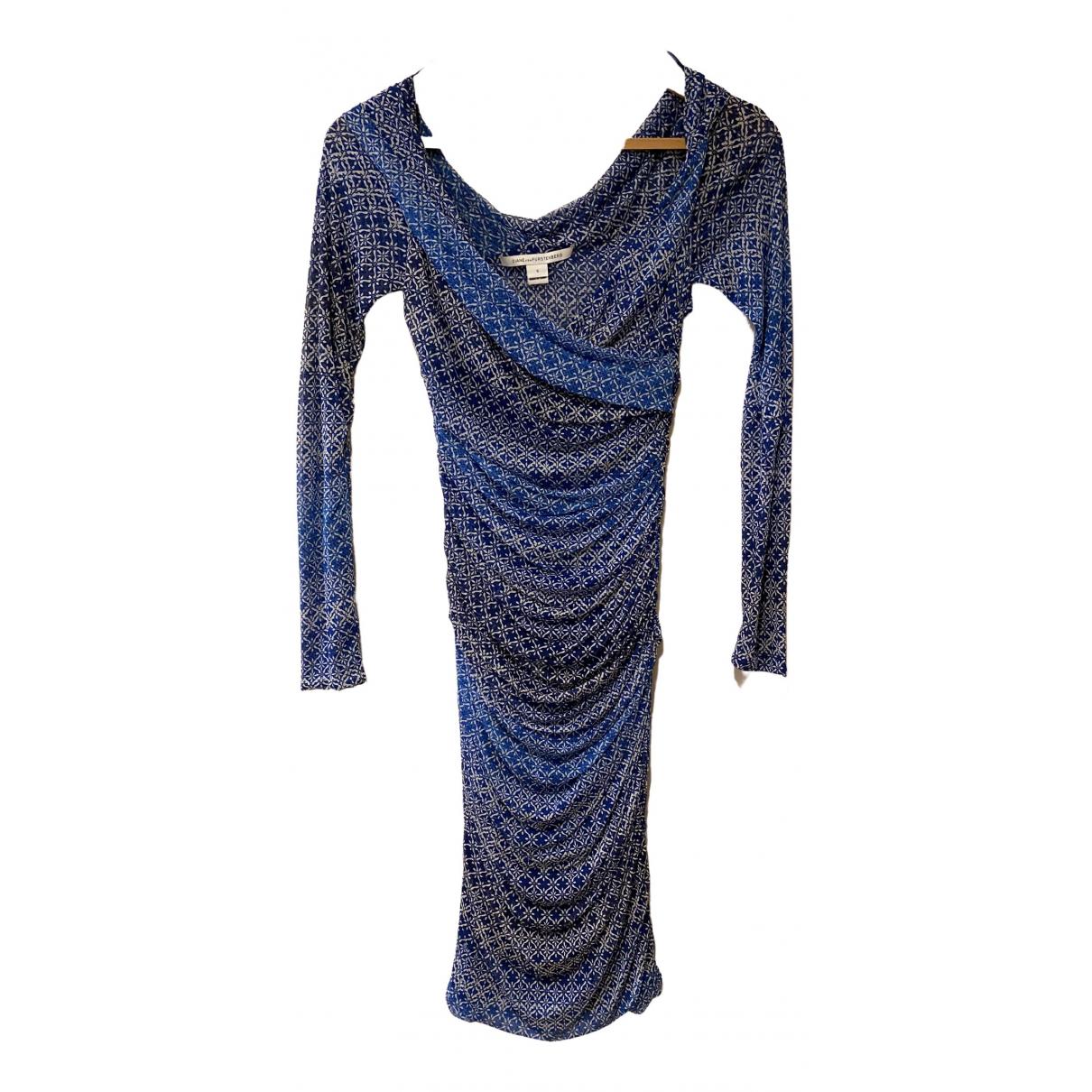 Diane Von Furstenberg \N Blue Silk dress for Women 8 UK