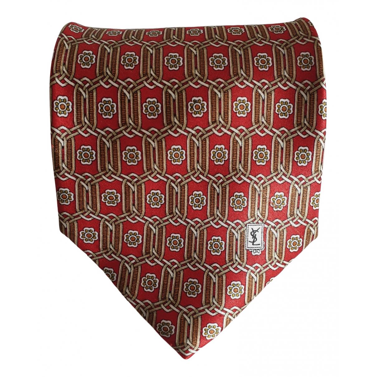 Yves Saint Laurent \N Krawatten in  Rot Seide