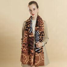 Schal mit Leopard & Zebra Streifen Muster