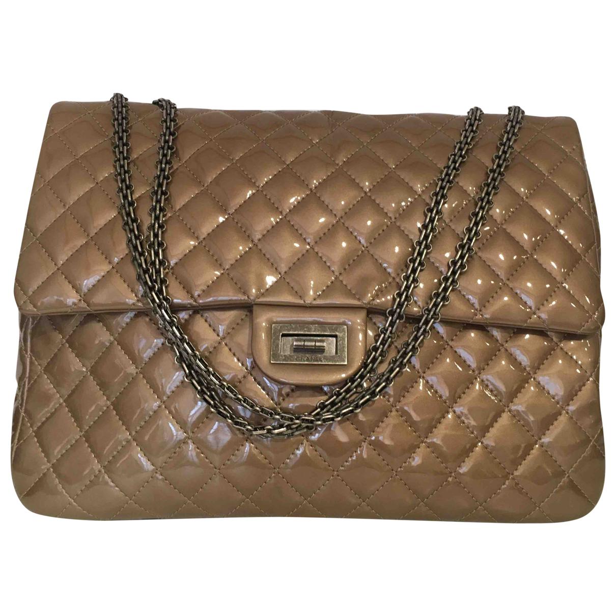 Chanel 2.55 Beige Patent leather handbag for Women \N