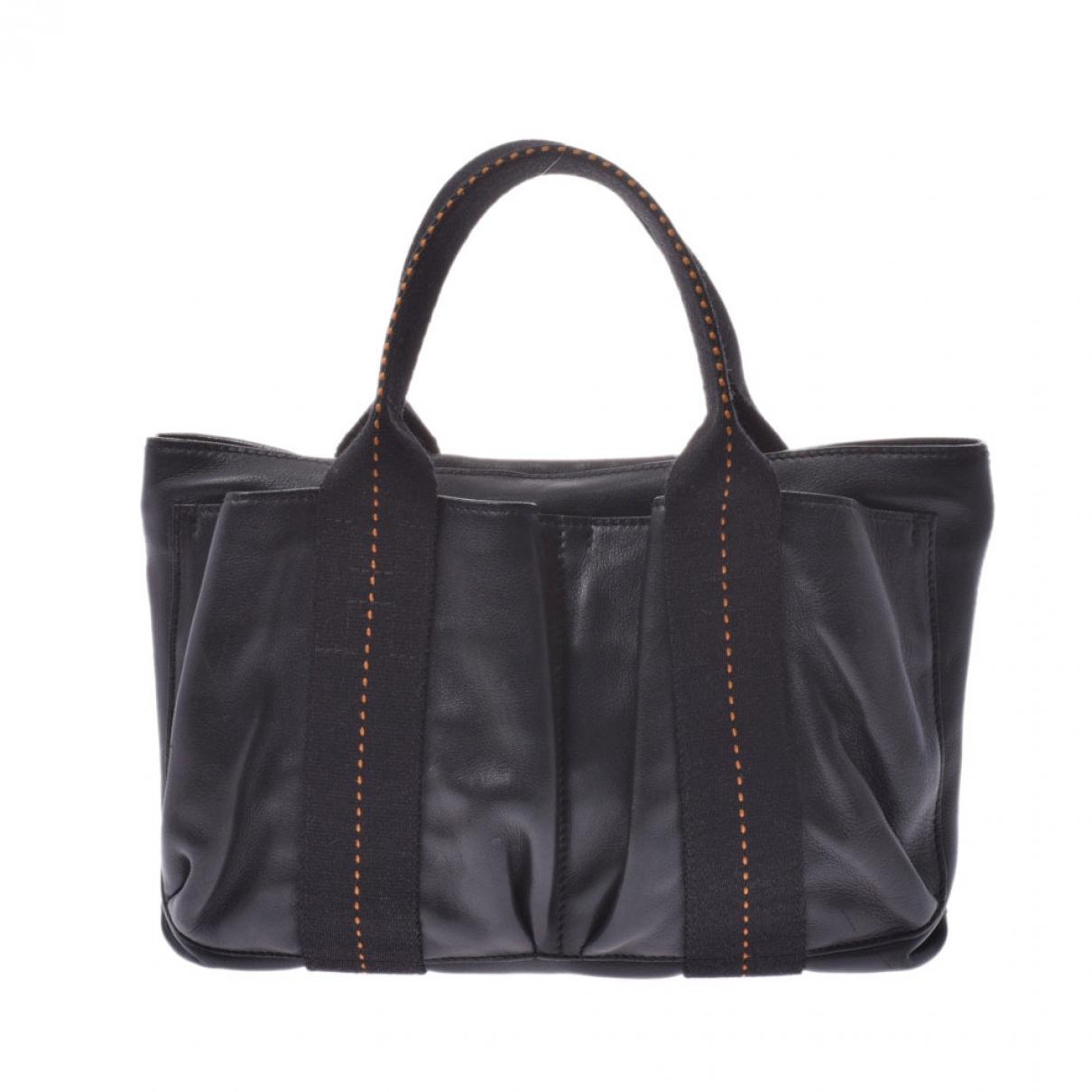 Hermès Caravane Black Leather handbag for Women \N