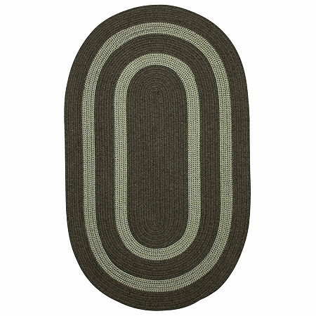 Colonial Mills Manhattan Reversible Braided Oval Rug, One Size , Green