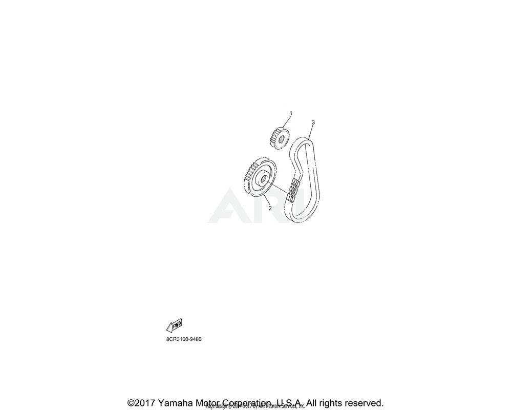 Yamaha OEM 8FA-17682-10-00 SPROCKET, CHAIN DRIVE (21T) | UR