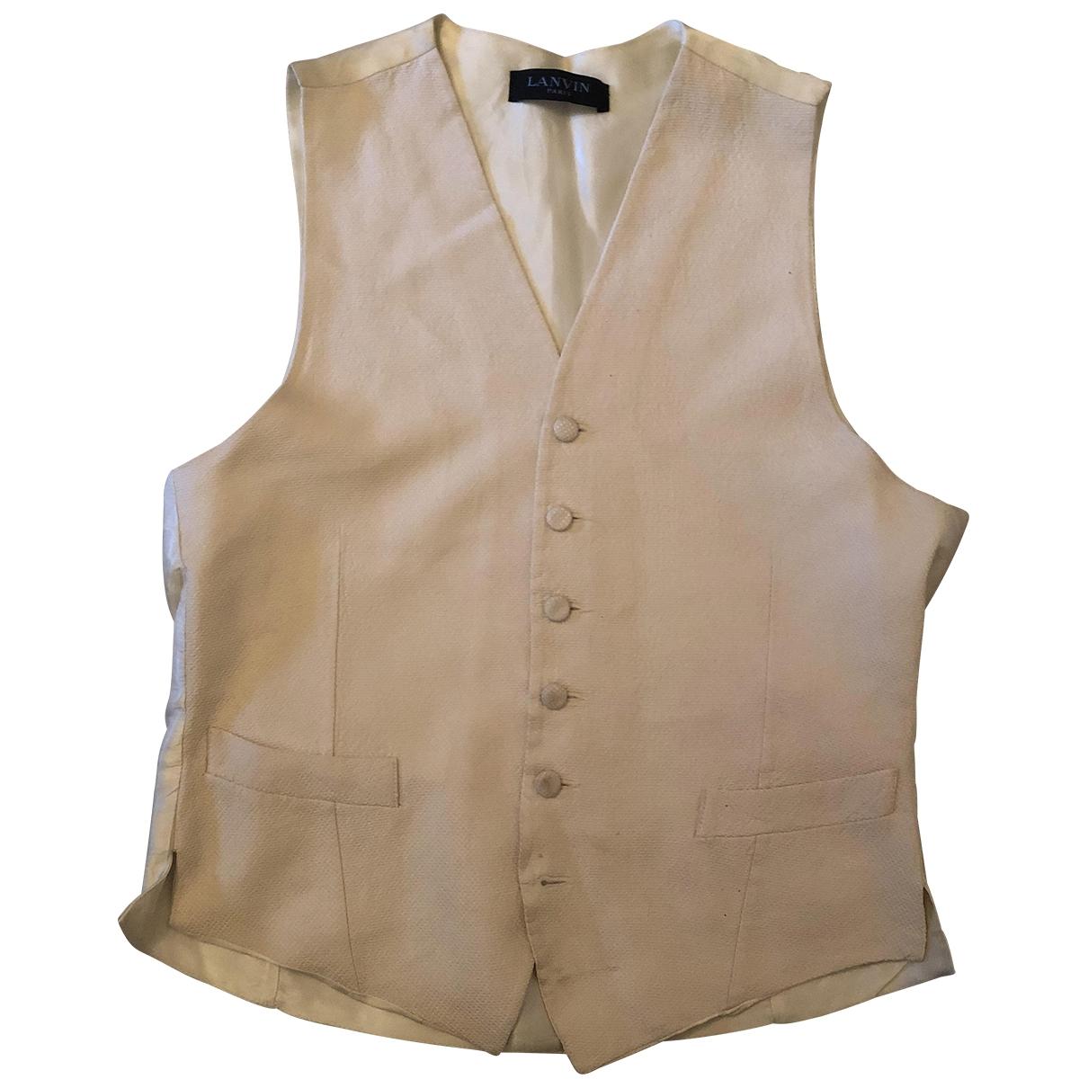 Lanvin \N White Silk Knitwear & Sweatshirts for Men 46 IT