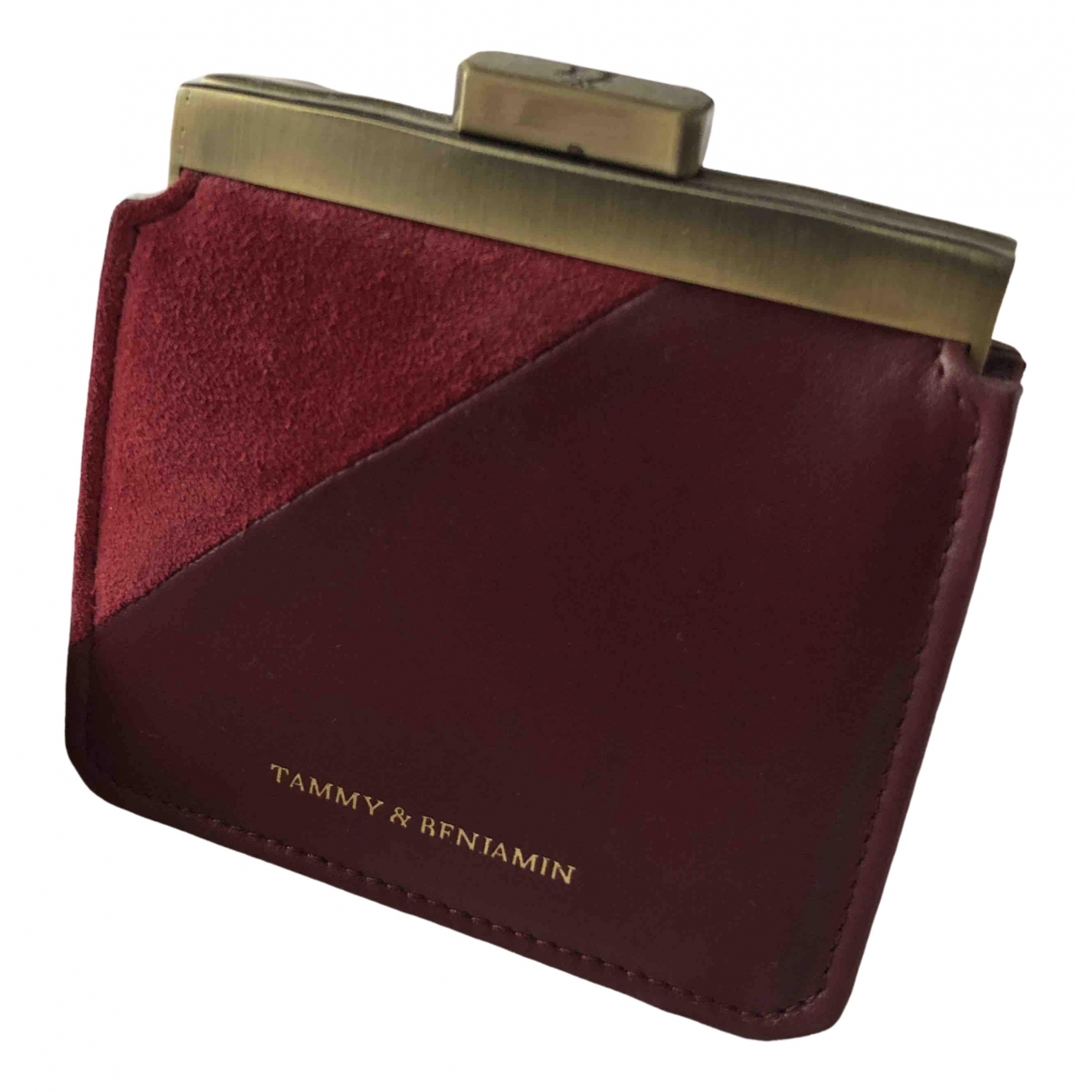 Tammy And Benjamin \N Burgundy Leather Clutch bag for Women \N
