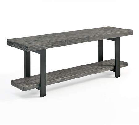 Pomona Collection AMBA03SG Metal and Wood Bench  Slate
