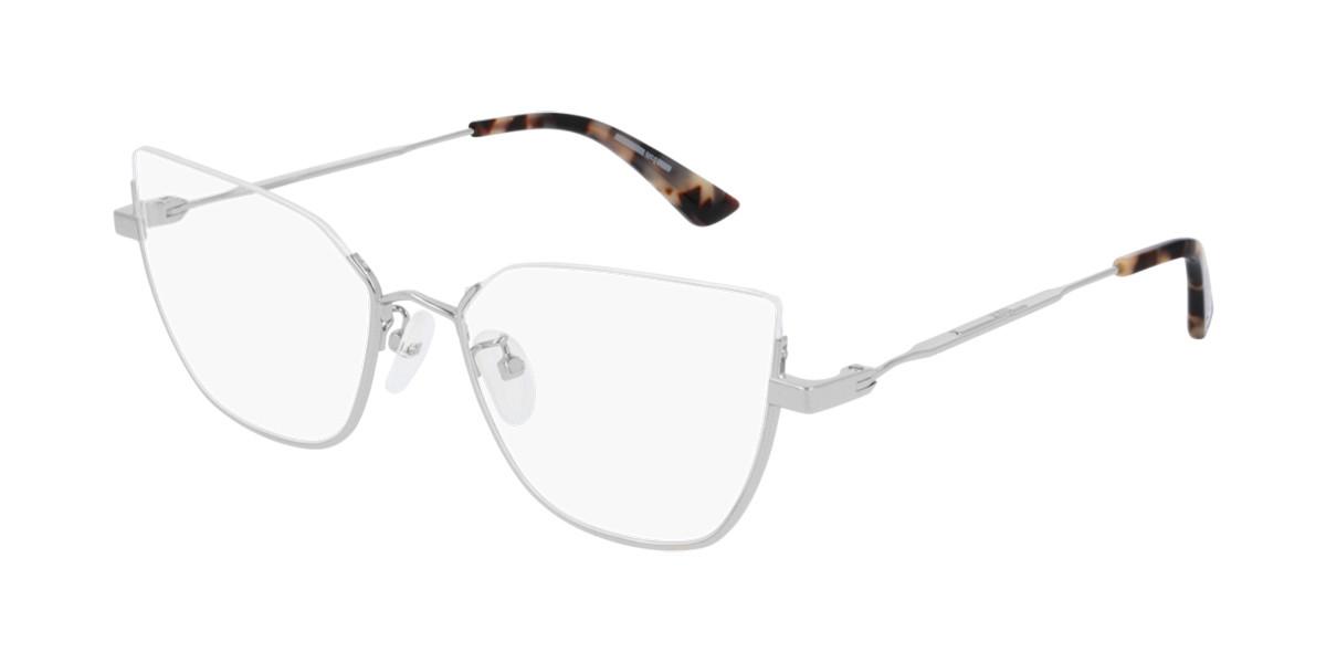 McQ MQ0229O 003 Women's Glasses Silver Size 55 - Free Lenses - HSA/FSA Insurance - Blue Light Block Available