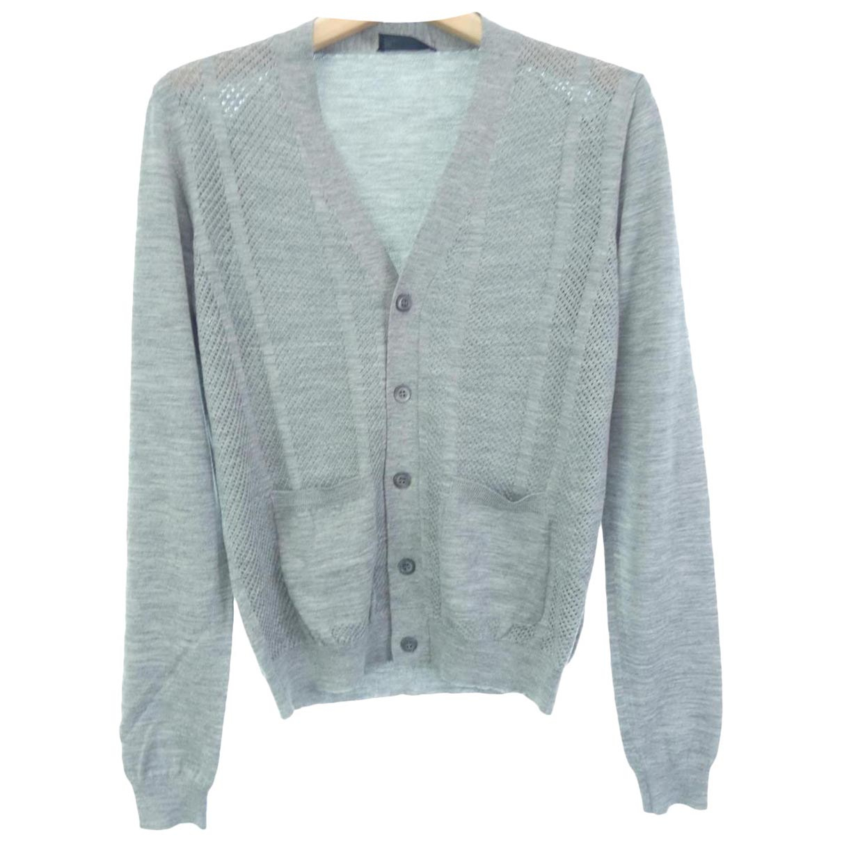 Prada - Tee shirts   pour homme en coton - gris
