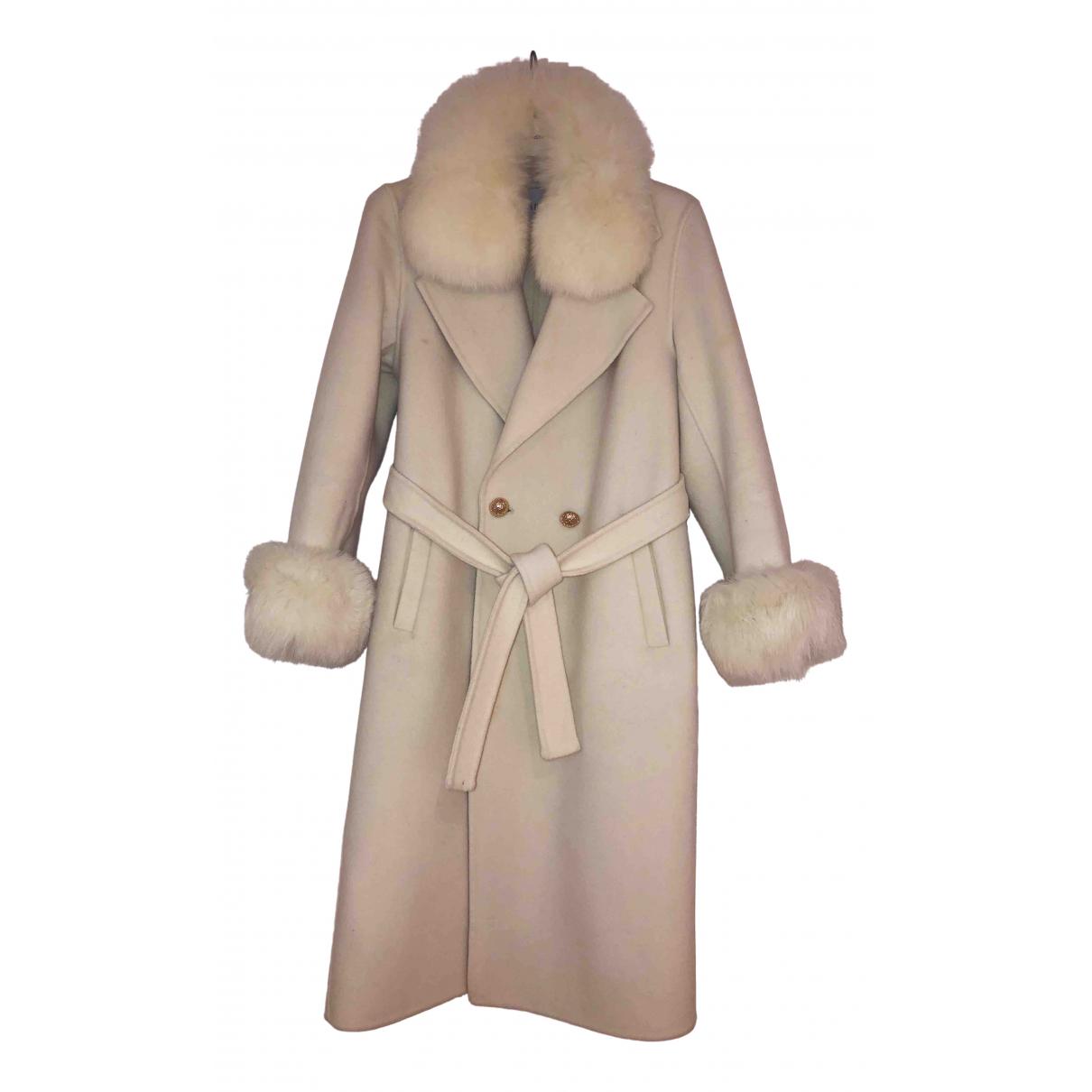 - Manteau   pour femme en laine - blanc