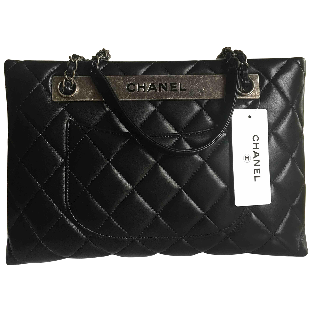 Chanel Trendy CC Black Leather handbag for Women N