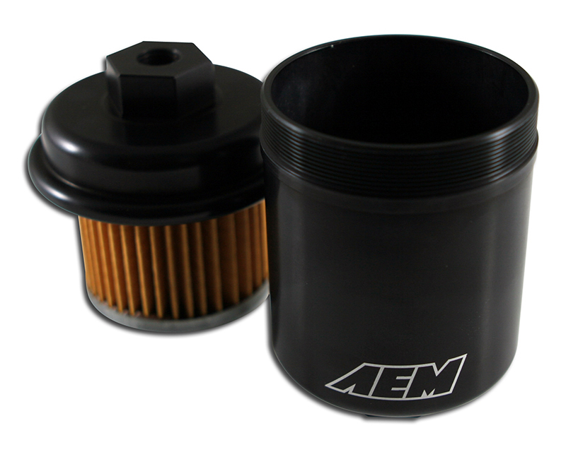 AEM Electronics 25-200BK High Volume Fuel Filter Acura Integra GS-R 1.8L | 1797ccL4 [B18C1] 94-01