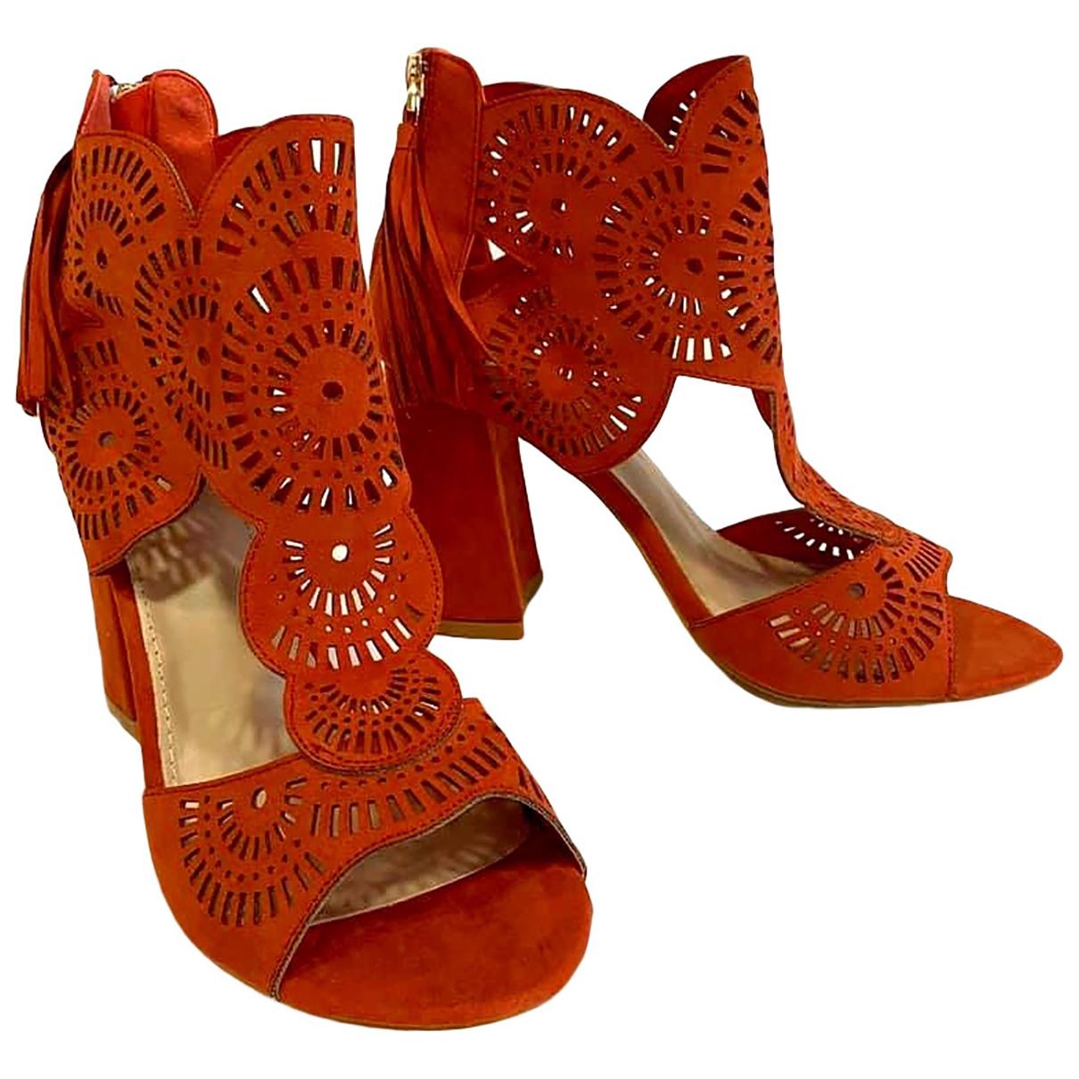 Non Signé / Unsigned \N Orange Sandals for Women 40 EU