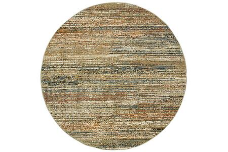 A8037J240RDST 710 Round Rug with Abstract Pattern and Nylon/PolyPFiber