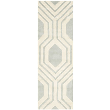 Safavieh Erin Geometric Hand Tufted Wool Rug, One Size , Gray