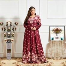 Vestidos Tallas Grandes Floral Sencillo