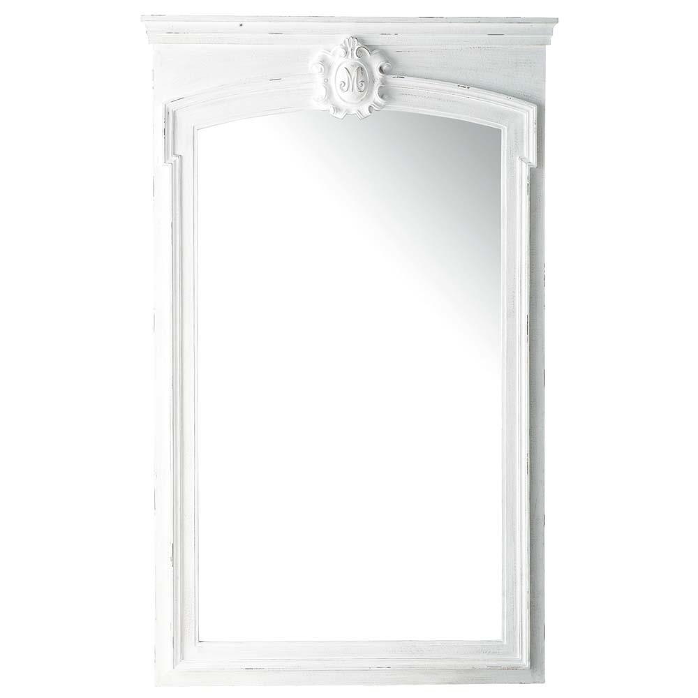 Trumeau-Spiegel aus Paulownienholz, 100x160, weiss