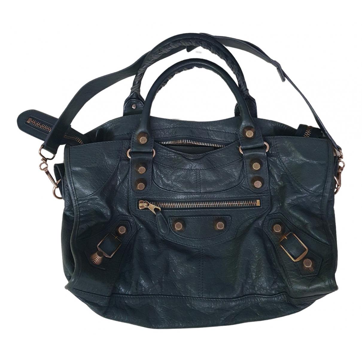 Balenciaga Part Time Anthracite Leather handbag for Women \N