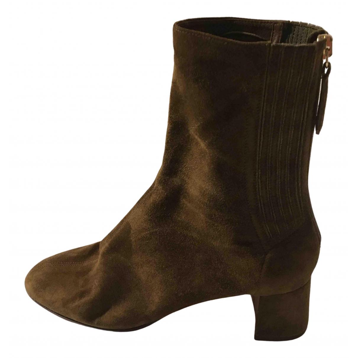 Aquazzura N Khaki Suede Ankle boots for Women 36 EU