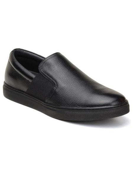Mens Slip On Black Shoe