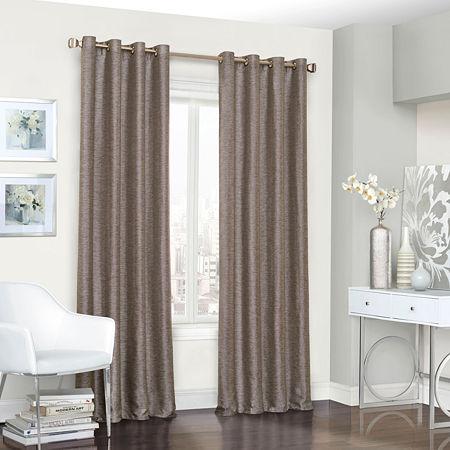 Eclipse Presto Energy Saving Blackout Grommet-Top Single Curtain Panel, One Size , Brown