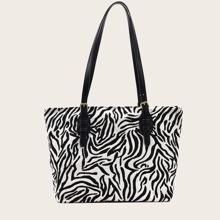 Tragetasche mit Zebra Streifen